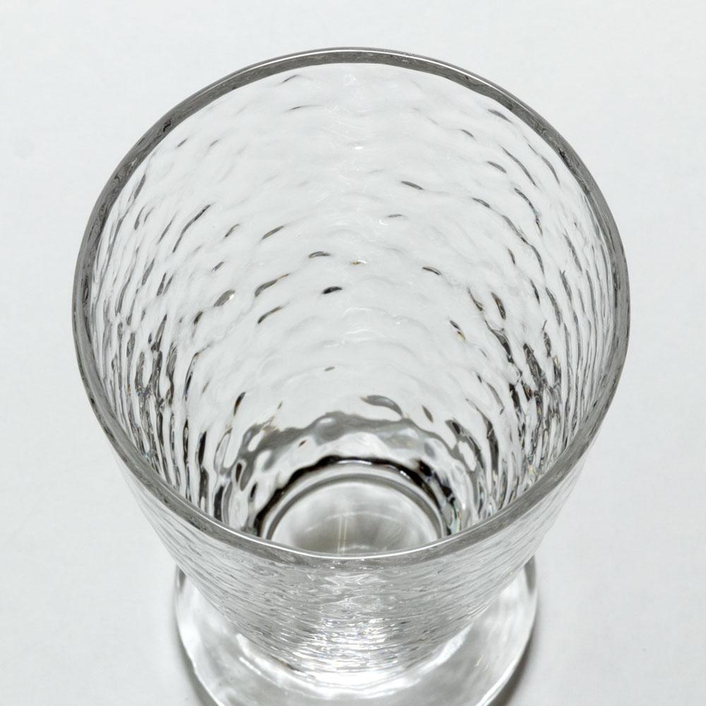 クリームソーダグラスセット 2客組 昭和レトロ 和風 槌目グラス+槌目スプーン+大谷石コースター
