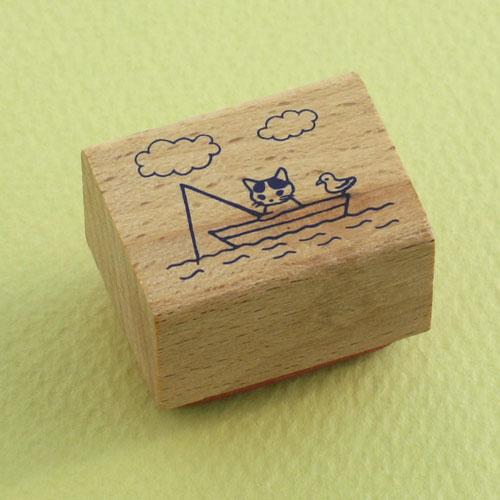 ポタリングキャット 猫はんこ 小サイズ 小舟(SH-14)