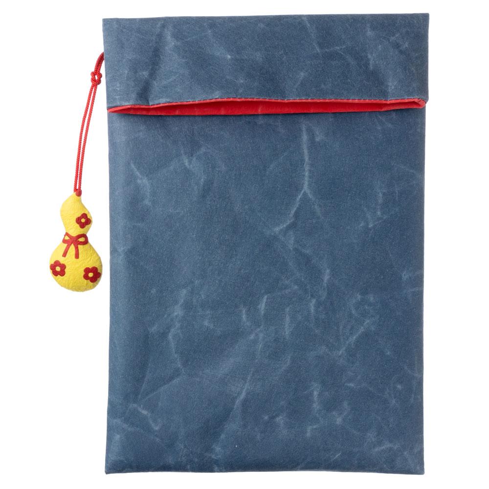 めでたや 御朱印帳袋 青 ひょうたん 丈夫な紙製の御朱印帳ケース 山梨県の工芸品 Goshuin book case