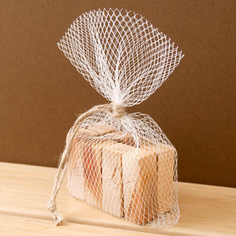 土佐龍 アロマブロック メッシュ袋入り 高知県の工芸品 Bath additive of cypress, Kochi craft