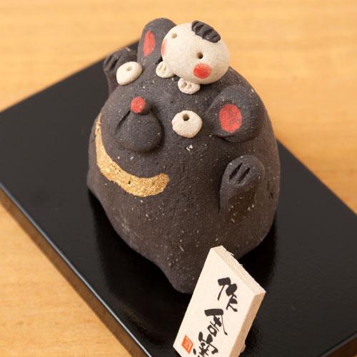 工房SAO 豆太郎とクマ (MK143) 瀬戸焼の皐月飾り 端午の節句・五月人形 Boys' festival decoration, Setoyaki