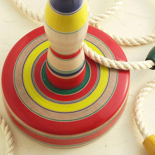 【昔のおもちゃ・木地玩具】輪投げ 大 山形県の木地玩具 ※色・柄はお選びいただけません