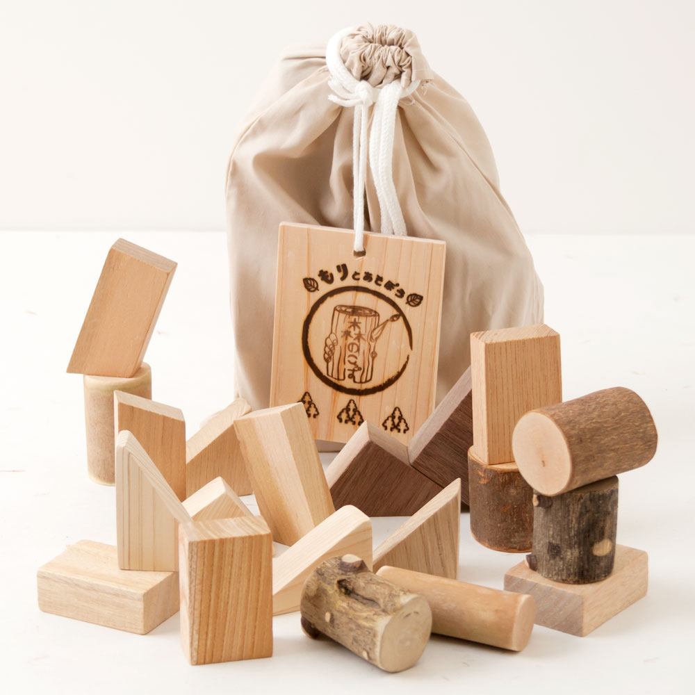 土佐龍 森のこっぱ 天然木のつみ木 20ピース入り 高知県の工芸品 Bath additive of cypress, Kochi craft