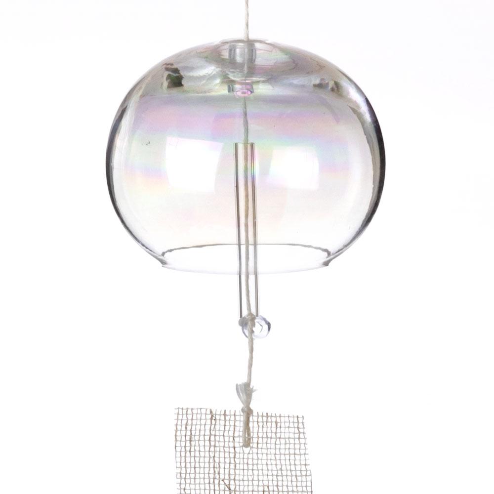 しゃぼん玉風鈴 大 ガラス風鈴 木之本 福島県の工芸品 Wind bell, Fukushima craft