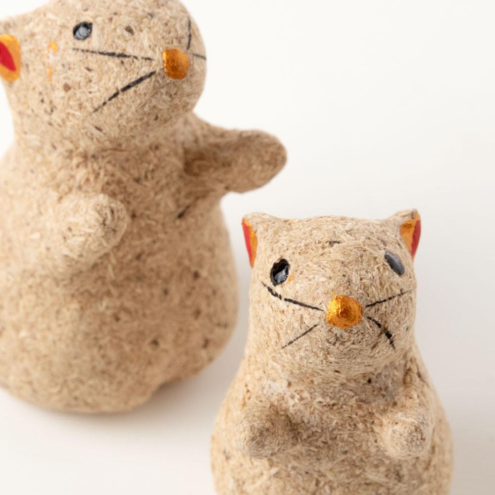 桐のこ人形 迎春こがし 子年 正月干支飾り 木之本 福島県の工芸品 Handmade figurine, Fukushima craft