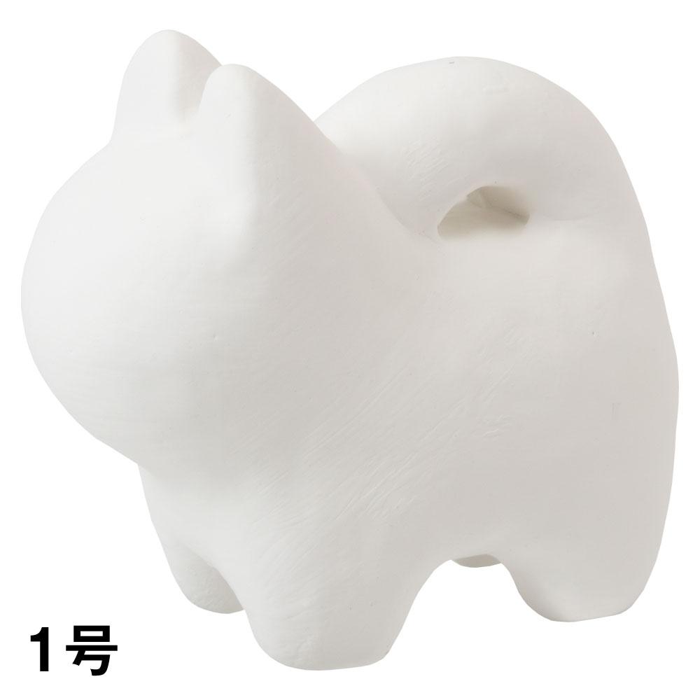 おえかき犬張子1号 ぬり絵工作用(白仕上げ) Papier-mache dog made of Japanese paper