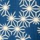 小島屋 藍染め暖簾(のれん)あさぎ 麻の葉柄 武州正藍染 埼玉県の工芸品 Short split curtain made of indigo dye fabric, Saitama craft