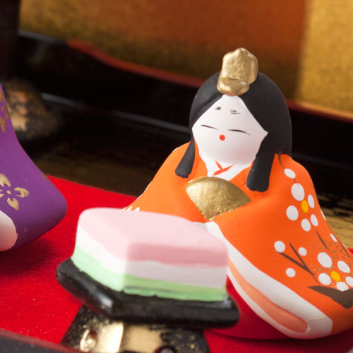 昭峰作 京洛雛飾り (SA-085) 瀬戸焼のお雛さま 桃の節句 Setoyaki Hina dolls