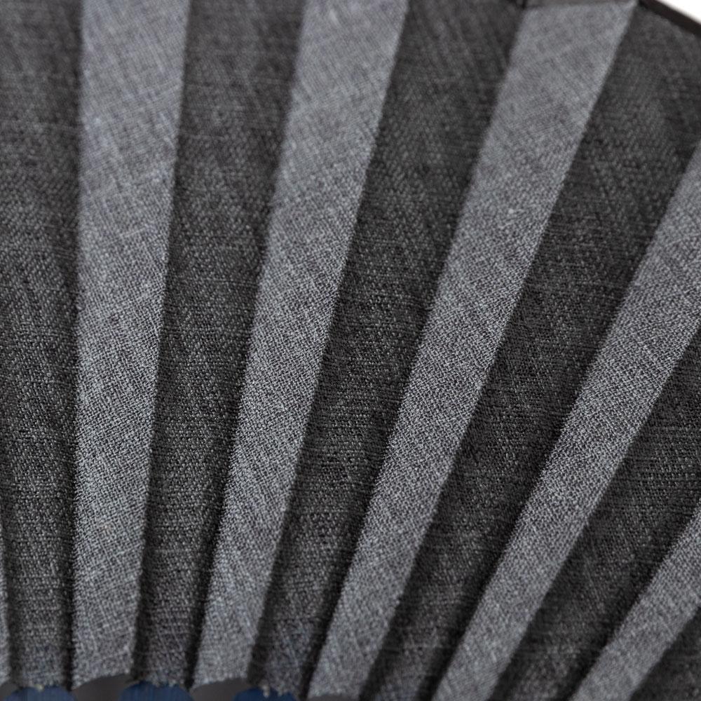 和調紳士扇子セット2020 灰 布貼り扇子 扇子袋付き 男性向け スーベニール Sensu fan