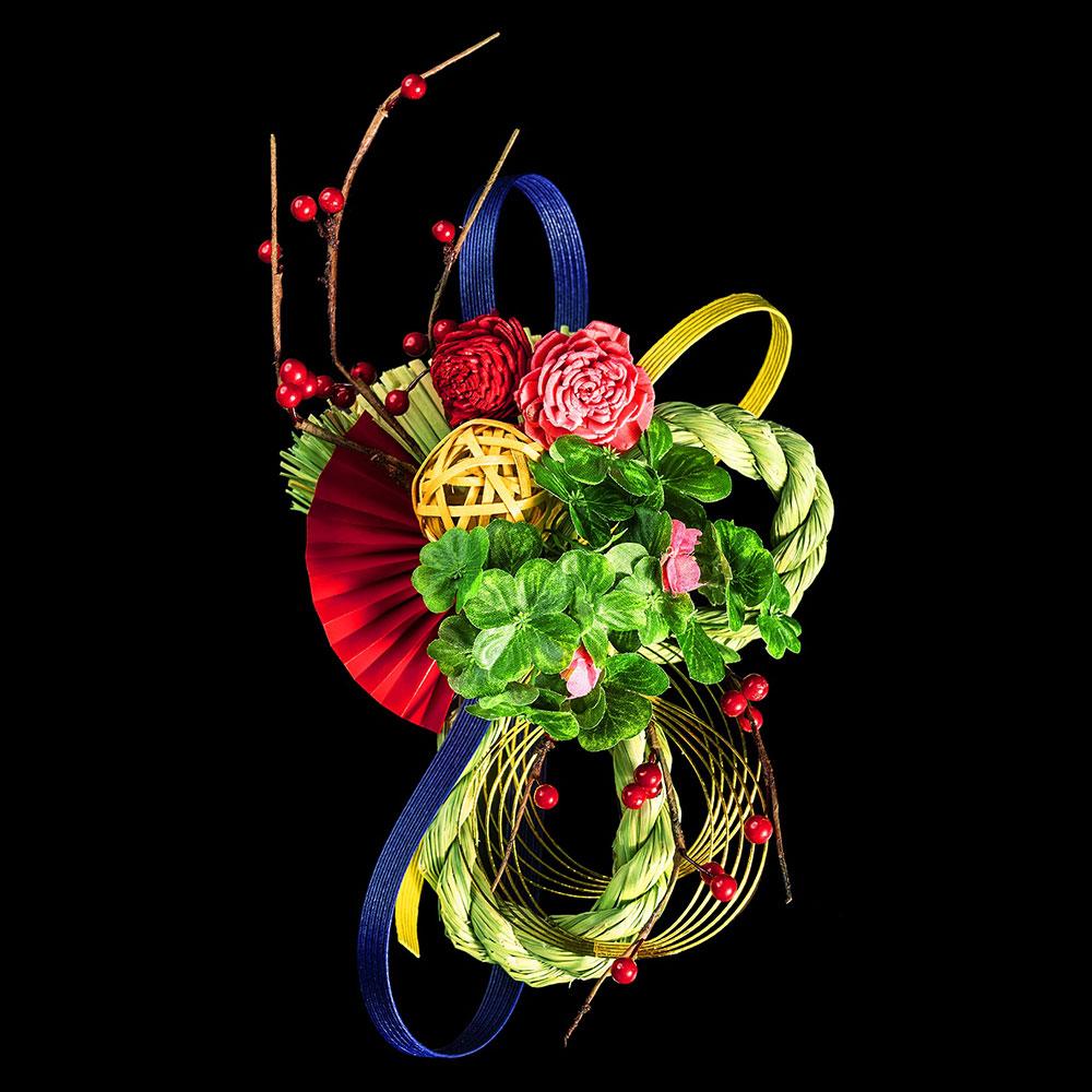 正月飾り 注連飾り 竹治郎 雪月風花 楓(かえで) 新潟県南魚沼の正月飾り 2000サイズ Japanese New Year decoration made of straw