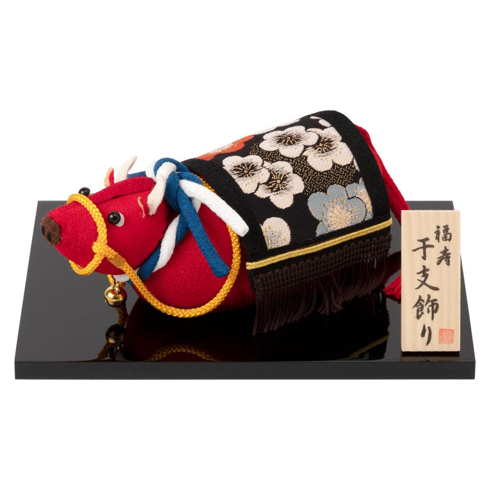 京都夢み屋 撫で丑 (YE21-5) ちりめん細工の正月置き飾り 干支飾り New year decoration of crepe fabric