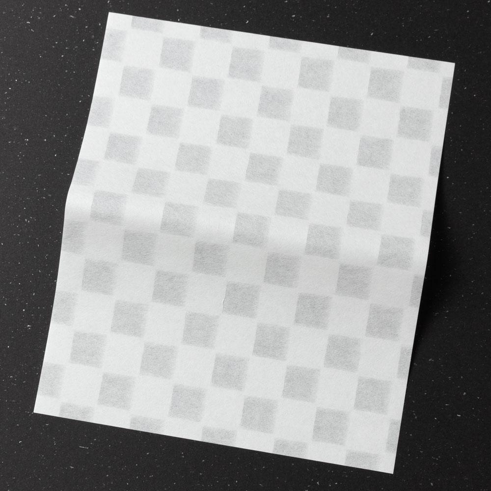 辻徳 漉入れ懐紙 市松 20枚入り 美濃和紙 Sukiire kaishi, Japanese paper