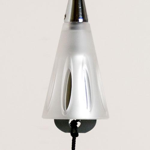 真鍮風鈴 消音機能付き シルバー ショートサイズ 東京ベル製作所