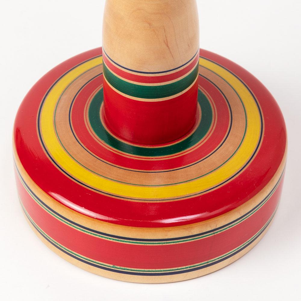 【昔のおもちゃ・木地玩具】輪投げ 特大・高さ50cm 輪5個付き 山形県の木地玩具 ※色・柄はお選びいただけません