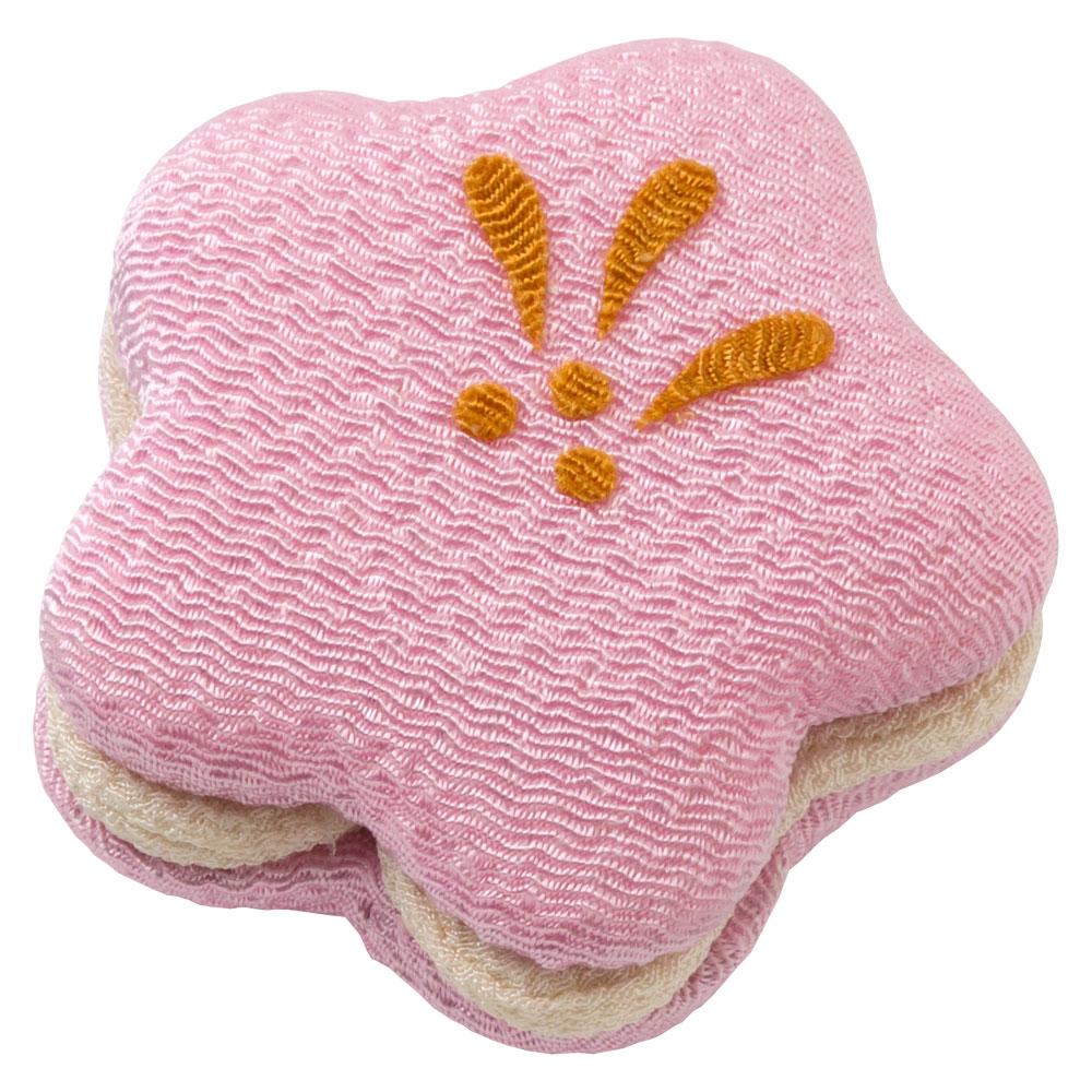 ちりめん和菓子処・香の花 甘美 梅もなか (KKN-16) まるで和菓子のようなちりめん置物 お香入り 京都夢み屋 Japanese sweet-like ornament