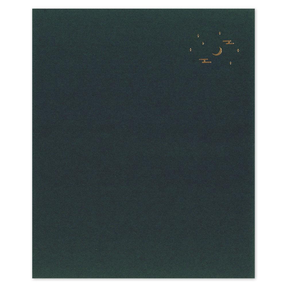 辻徳 箔押し懐紙 夜の月 20枚入り 越前和紙 Foil stamping kaishi, Japanese paper