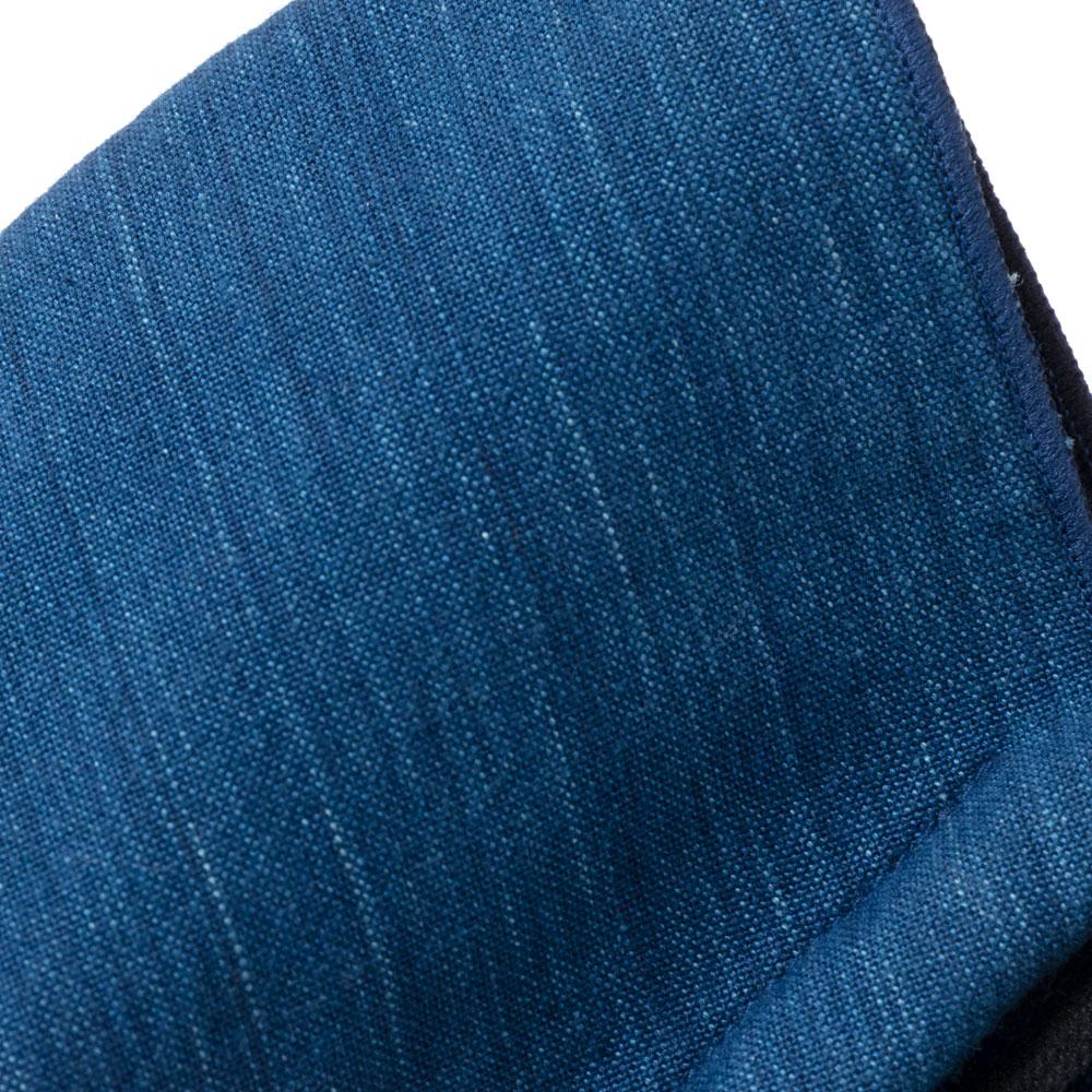 小島屋 藍染マスク あさぎ(メンズ・ラージサイズ) 抗菌防臭素材使用 武州正藍染 埼玉県の工芸品 Face mask made of indigo dye fabric, Saitama craft