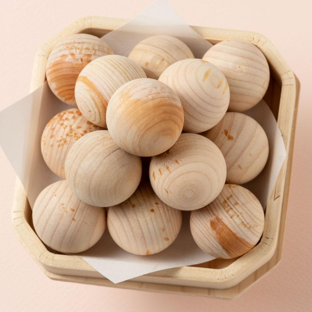 ひのきのお月見飾り・ひのき団子と三宝(三方)セット 当店オリジナル月見団子セット Moon-viewing dumplings set