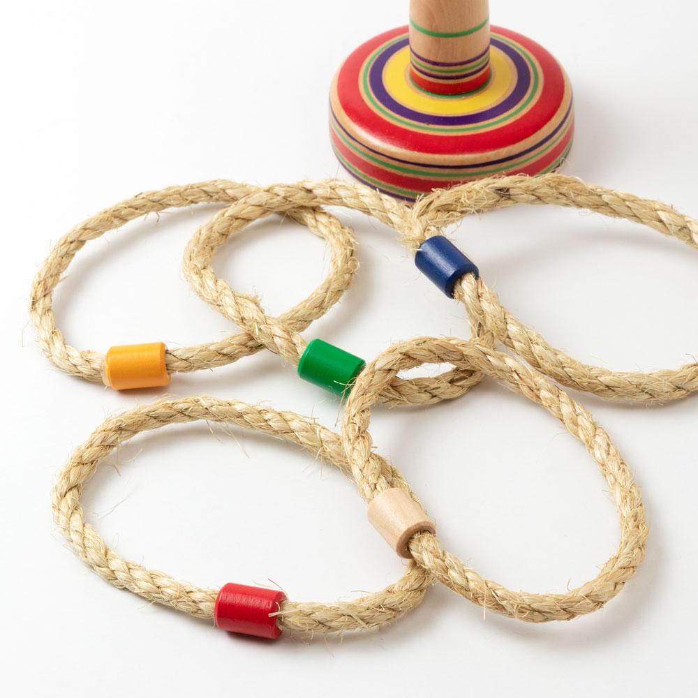 木製輪投げセット (KS) 木地玩具 Wooden quoits