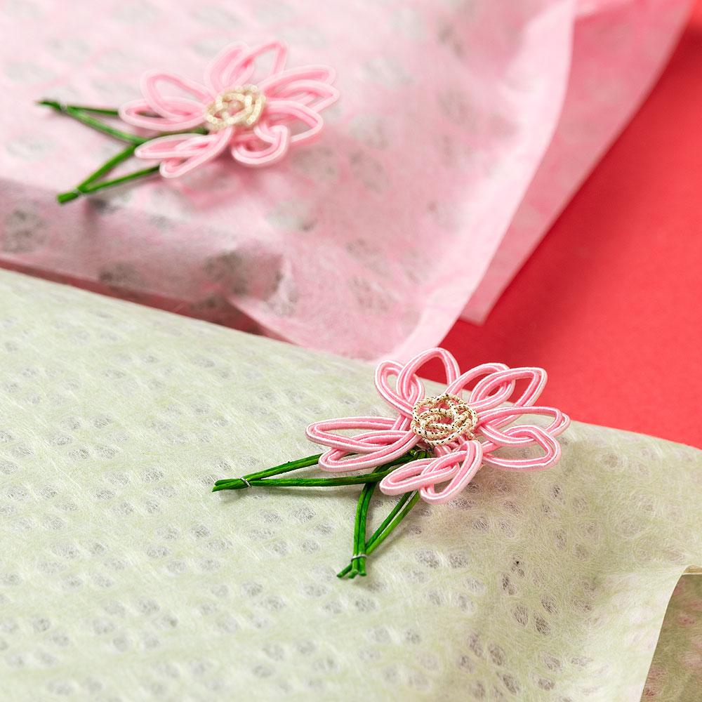 飾り水引 桜(さくら) 3個入り 水引細工 貼り付け用テープなし