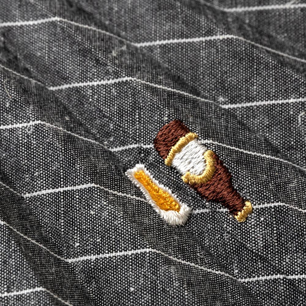 ホビー刺繍扇子セット2020 ビール 刺繍入り布貼り扇子 扇子袋付き 男性向け スーベニール Sensu fan