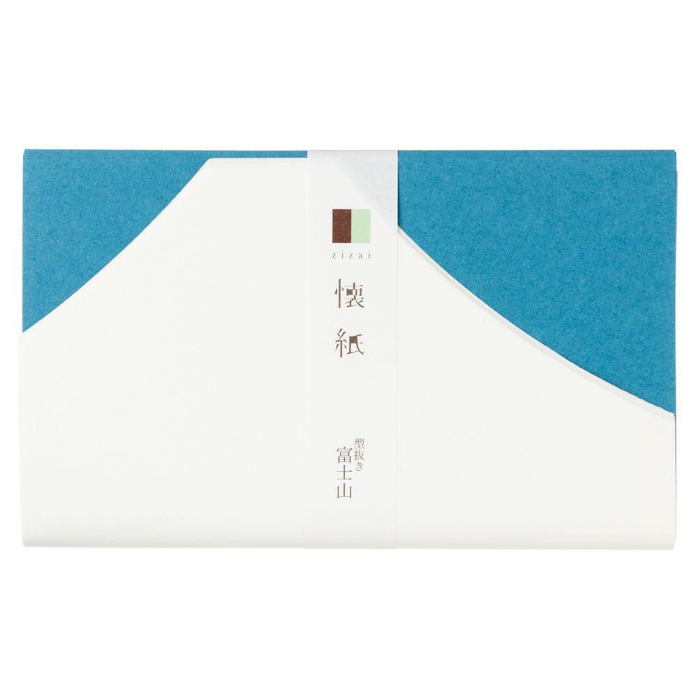 辻徳 型抜き懐紙 富士山 型抜き懐紙10枚+色紙10枚入り 越前和紙 Die cutting kaishi, Japanese paper