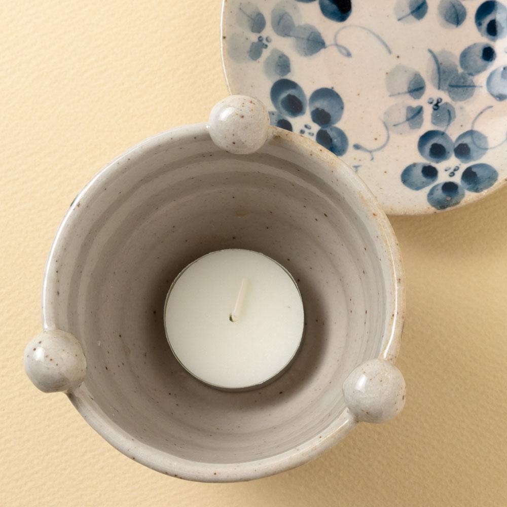 茶香炉 染花 (K121) 茶葉の香りを楽しむアロマグッズ 瀬戸焼 愛知県の工芸品 Tea incense burner, Aichi craft