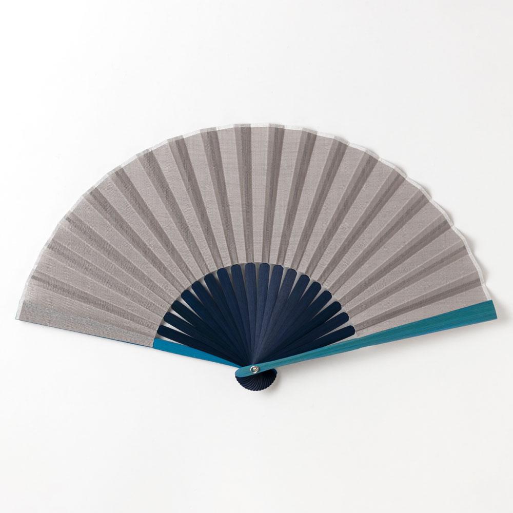 メンズカラー扇子2020 グレー 布貼り扇子 男性向け スーベニール Sensu fan