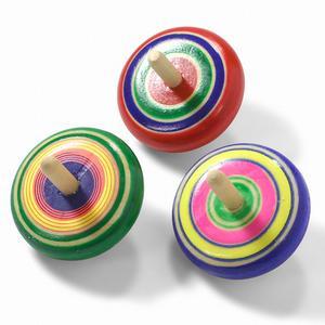 色とりどりのしっかりひねり独楽 丸こま 1個 ※色・柄はお選びいただけません