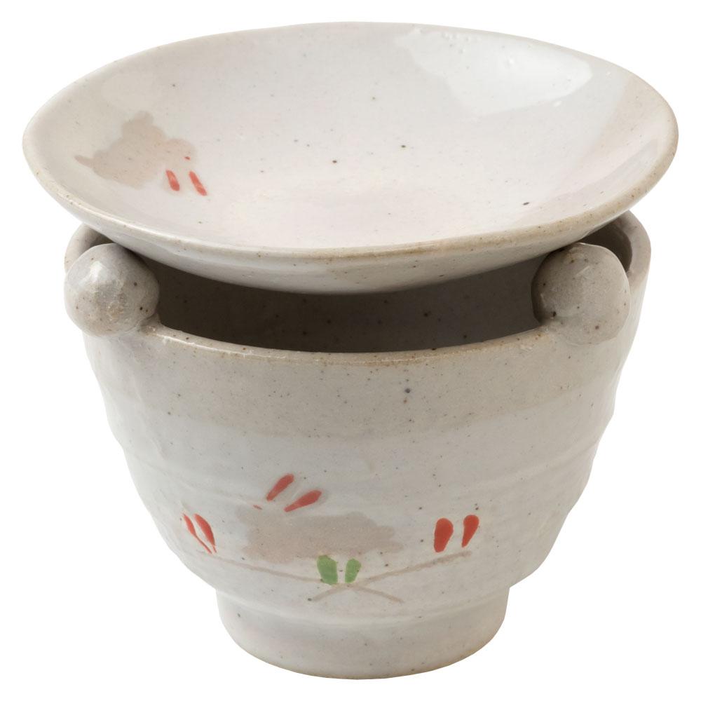 うさぎ茶香炉 (K2507) 茶葉の香りを楽しむアロマグッズ 瀬戸焼 愛知県の工芸品 Tea incense burner, Aichi craft
