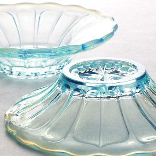 廣田硝子 雪の花 氷鉢 ブルー(2231)