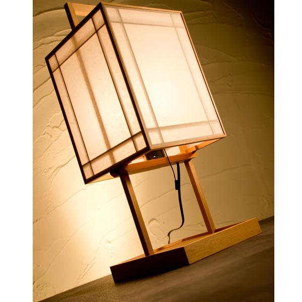 和風スタンドライト 行灯 栞 shiori (A510) 杉材と強化和紙の照明器具 LED電球対応 Japanese style floor lamp made of cedar wood and Japanese paper