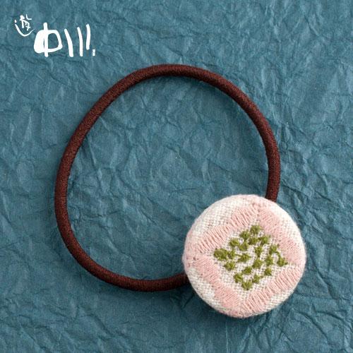 【半額・在庫処分】遊 中川 はな七宝 ヘアゴム 桃色の花 ※在庫限り