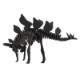 DINOSAUR恐竜骨格工作キット ステゴサウルス・ブラック ダンボールでつくる恐竜骨格 のりもはさみも使わずに組み立てられるペーパークラフト Cardboard craft kit, Dinosaur
