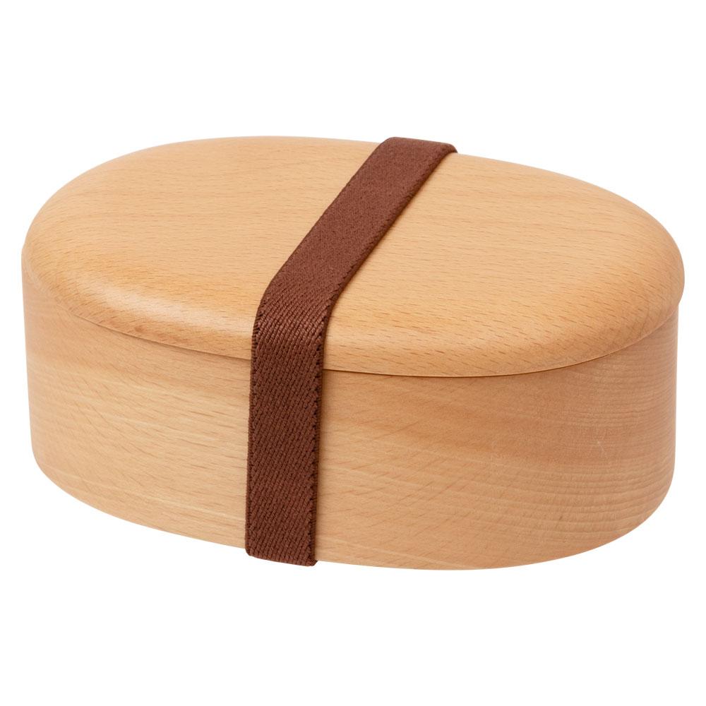 キッズ くり抜き弁当箱 (MB) 子ども用食器 しっかり頑丈な木の弁当箱 Wooden Bento for children