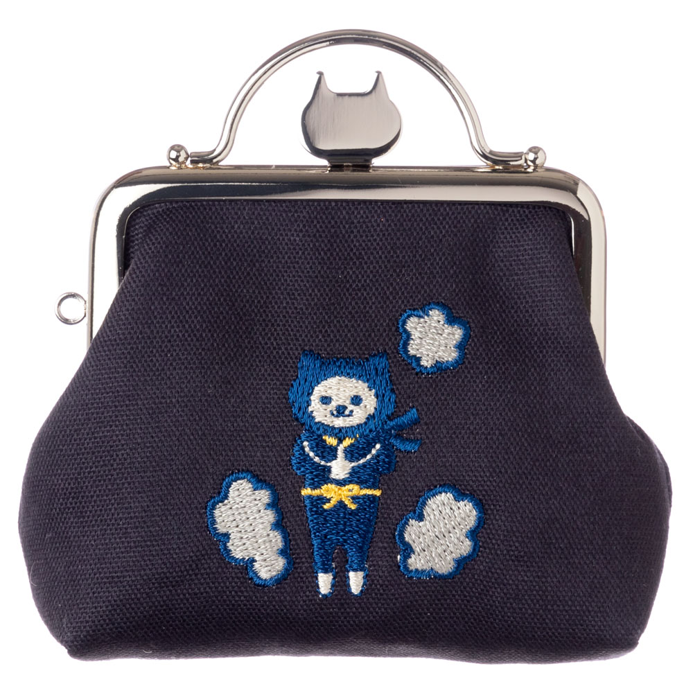NYANJA がま口ポーチS スーベニール Gamaguchi pouch, Coin purse