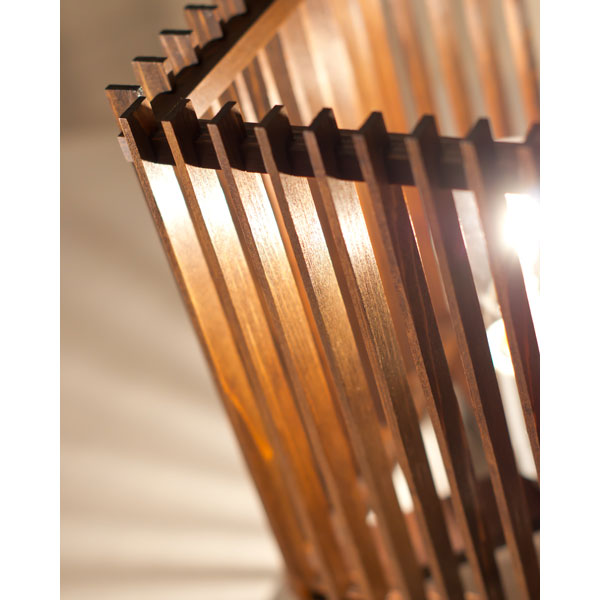 和風スタンドライト 行灯 廉(小) ren-S (A536-T) 民芸塗り仕上げ 杉材と鉄の照明器具 中間調光タイプ(LED非推奨) Japanese style floor lamp made of cedar wood and iron
