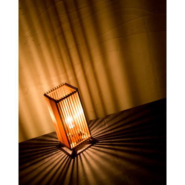 和風スタンドライト 行灯 廉(大) ren-L (A515-O) 杉材と鉄の照明器具 LED電球対応 Japanese style floor lamp made of cedar wood and iron