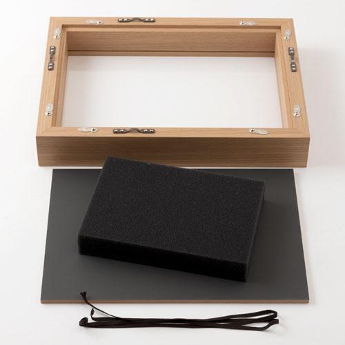 見開き御朱印帳額 小 ナチュラル木目 御朱印帳を開いて飾れるインテリア額縁 岐阜県の工芸品 Picture frame for Goshuinchou, Gifu craft