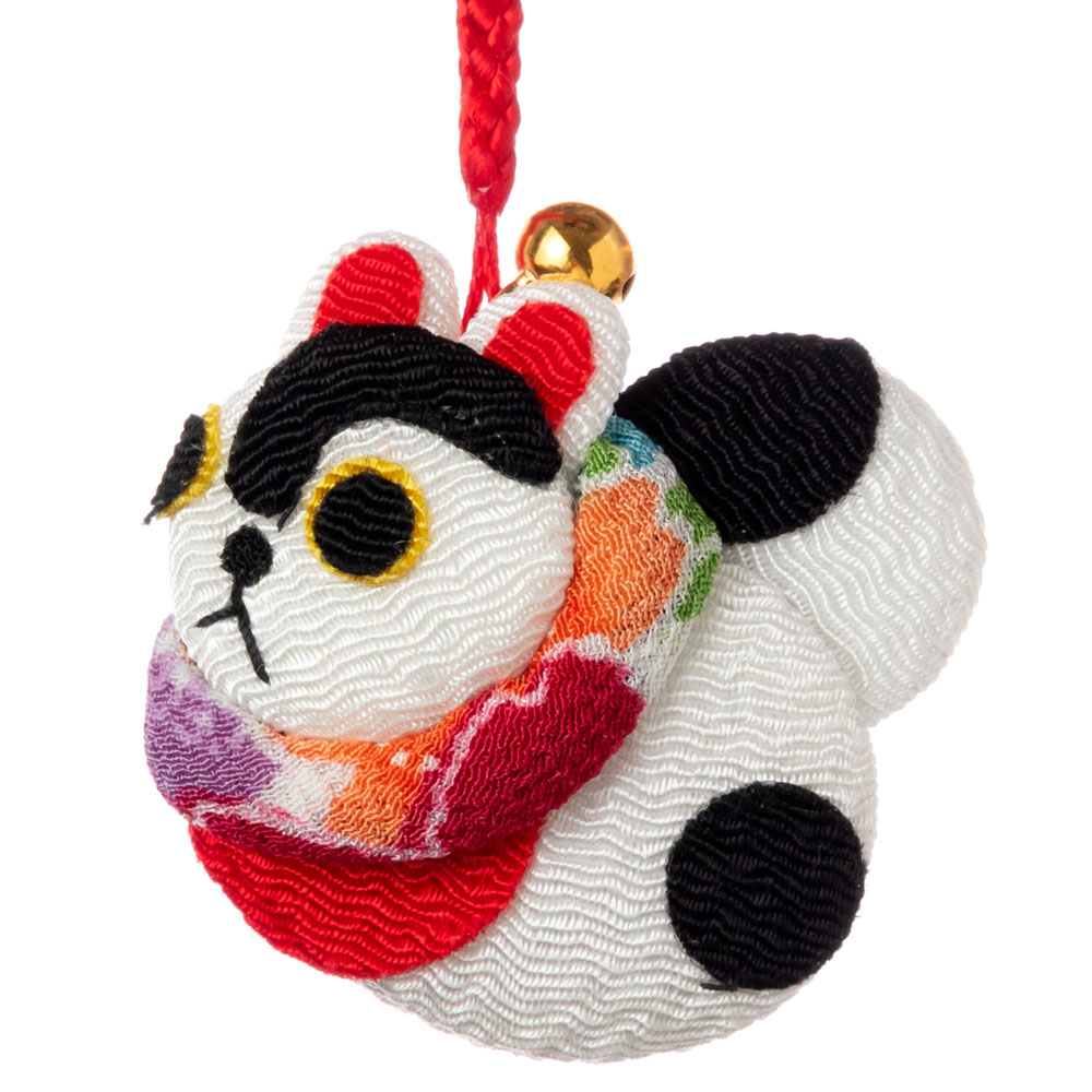 京都夢み屋 十二支根付 戌 -いぬ- (YE15-20) ちりめん細工の干支小物 Japanese zodiac accessory of crepe fabric