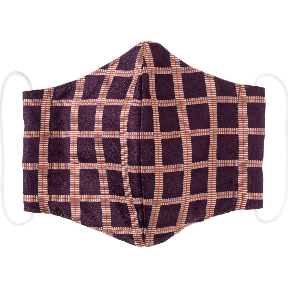 京都 あらいそ 西陣織名物裂 和装マスク 雨龍間道 正絹織物とガーゼを組み合わせた和風スタイルマスク 男女兼用 Kyoto nishijin, Face mask