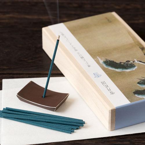 スティックお香 桐箱入「雪月花」 雪 凛とした静けさ お香と香立てセット 悠々庵 Incense and incense stand set