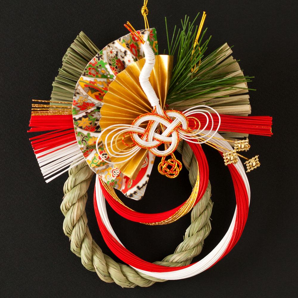 正月飾り 注連飾り 竹治郎 雪月風花 喜響(ききょう) 新潟県南魚沼の正月飾り 1700サイズ Japanese New Year decoration made of straw