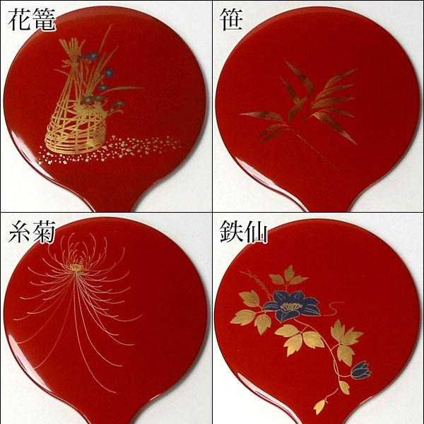 漆塗り手鏡 朱 (SIB-3) 女性への誕生日プレゼントやお祝い、外国の方へのおみやげに