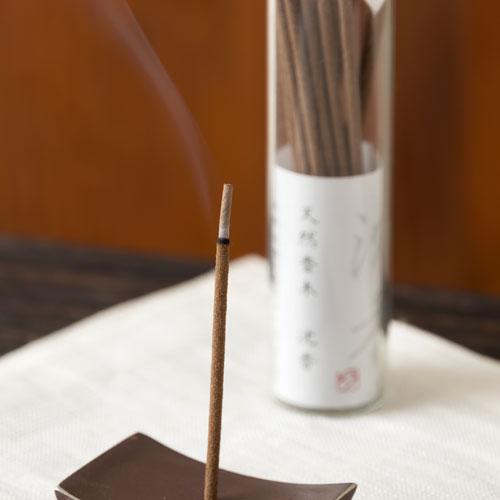 スティックお香 天然沈香 ガラスビン入 天然成分だけで作った水晶入りお線香 悠々庵 Incense made from natural ingredients
