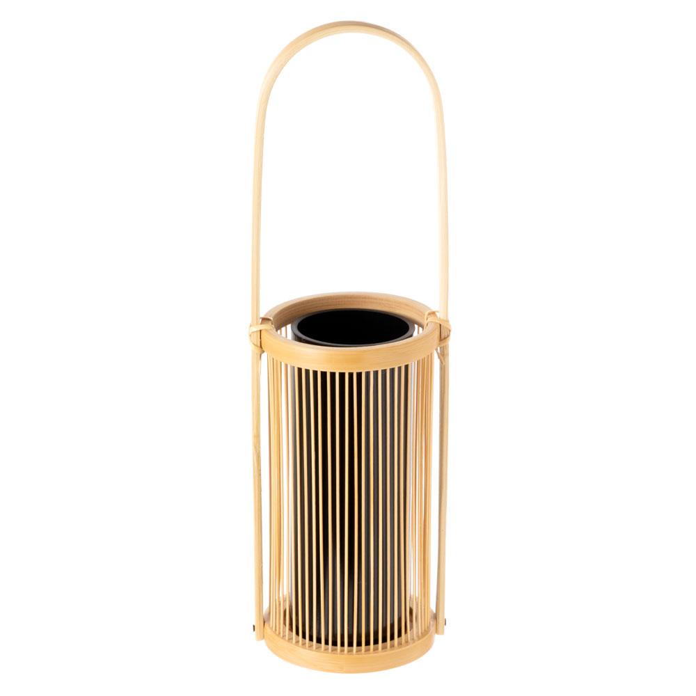 駿河竹千筋細工 花器 静香(さらし) 静岡県伝統工芸品 黒田雅年 作 Suruga-takesensuji-zaiku, Vase made of bamboo sticks