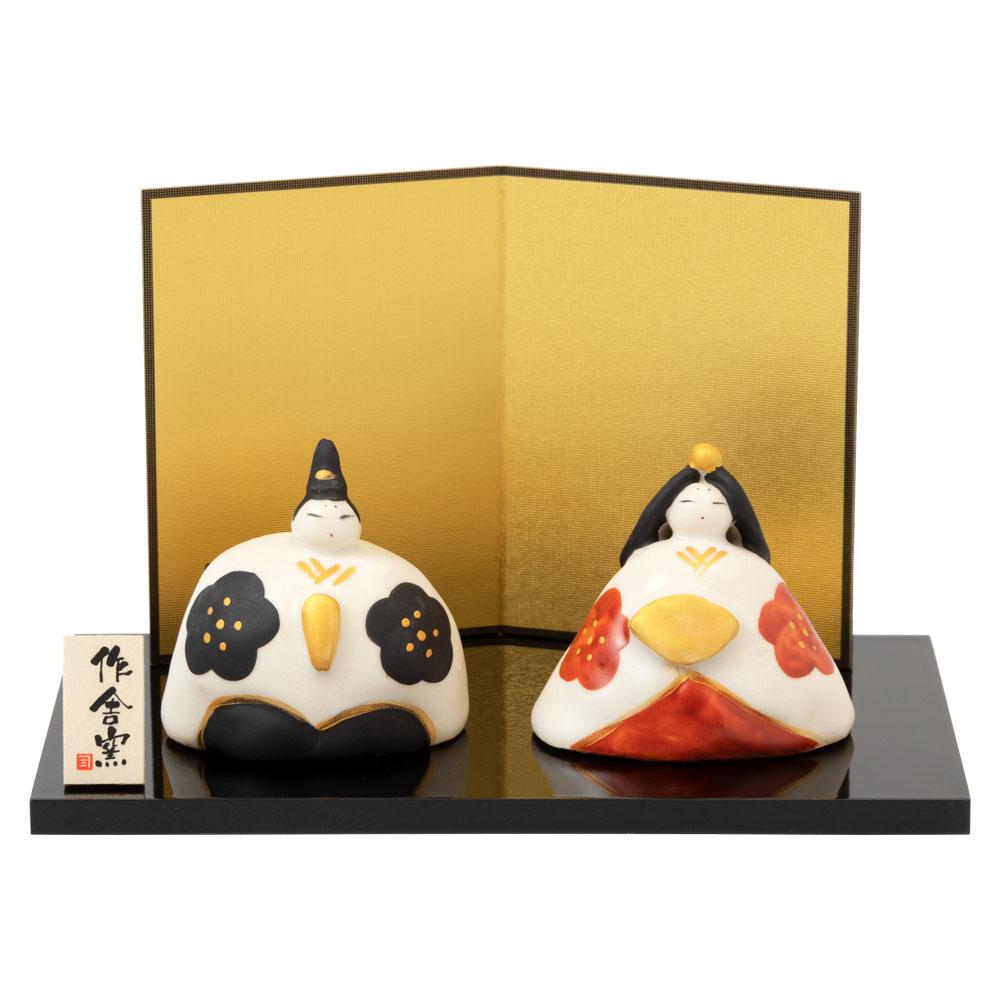 赤絵錦座雛 (HK863) スタジオRR 瀬戸焼のお雛さま 桃の節句 Setoyaki Hina dolls