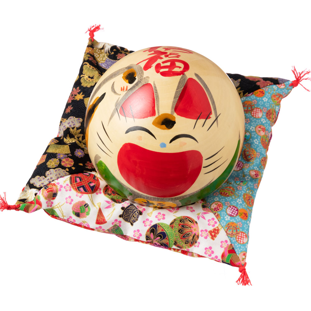 仙臺さすり 招き猫こけし 特大 (001) 招福・右手上げ 宮城県仙台市の工芸品 Kokeshi of lucky cat, Miyagi craft