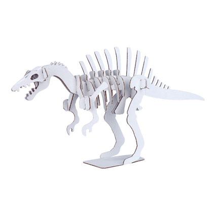 ダンボール恐竜工作キット スピノサウルス のりもはさみも使わずに組み立てられるペーパークラフト Cardboard craft kit, Dinosaur