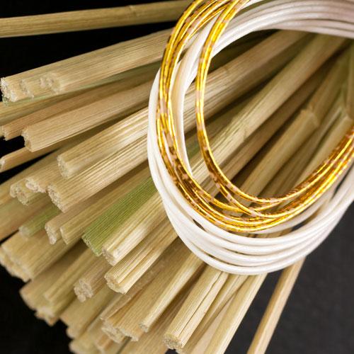 正月飾り 注連飾り 竹治郎 雪月風花 あられ 新潟県南魚沼の正月飾り 1400サイズ Japanese New Year decoration made of straw